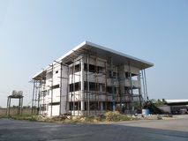 Εργοτάξιο οικοδομής κτιρίου γραφείων στην Ταϊλάνδη Στοκ Εικόνες