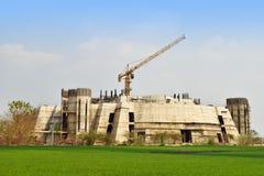 Εργοτάξιο οικοδομής με τους γερανούς Στοκ Φωτογραφία