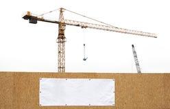 Εργοτάξιο οικοδομής με τους γερανούς Στοκ Φωτογραφίες