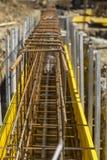 Εργοτάξιο οικοδομής με armature Στοκ εικόνες με δικαίωμα ελεύθερης χρήσης