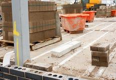 Εργοτάξιο οικοδομής οικοδόμων Στοκ εικόνα με δικαίωμα ελεύθερης χρήσης
