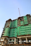 Εργοτάξιο οικοδομής πολυόροφων κτιρίων Στοκ Εικόνες