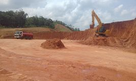 Εργοτάξιο οικοδομής στη Σρι Λάνκα Στοκ Εικόνα