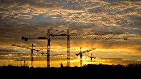 Εργοτάξιο οικοδομής στη Dawn Στοκ Εικόνες