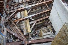 Εργοτάξιο οικοδομής της σαφούς ράγας Χονγκ Κονγκ Στοκ φωτογραφία με δικαίωμα ελεύθερης χρήσης