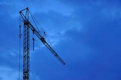 Εργοτάξιο οικοδομής τη νύχτα Στοκ φωτογραφία με δικαίωμα ελεύθερης χρήσης