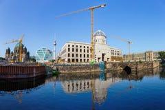 Εργοτάξιο οικοδομής του παλατιού πόλεων του Βερολίνου στοκ φωτογραφία με δικαίωμα ελεύθερης χρήσης