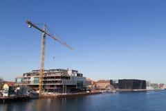 Εργοτάξιο οικοδομής Bryghusprojektet στην Κοπεγχάγη, Δανία Στοκ Φωτογραφία