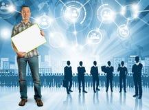 Εργοδότης επιχειρησιακών ατόμων Στοκ εικόνα με δικαίωμα ελεύθερης χρήσης