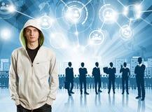 Εργοδότης επιχειρησιακών ατόμων Στοκ φωτογραφία με δικαίωμα ελεύθερης χρήσης
