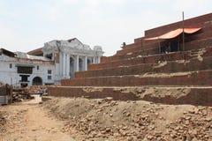 Ερείπια στην πλατεία Durbar, σεισμός του Νεπάλ μετά το 2015 Στοκ εικόνες με δικαίωμα ελεύθερης χρήσης