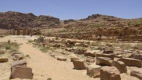 Ερείπια της αρχαίας πόλης της Petra απόθεμα βίντεο