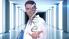 Ερευνητής που αναλύει το DNA απόθεμα βίντεο