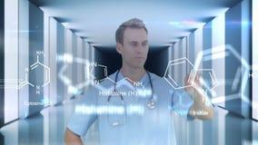Ερευνητής που χρησιμοποιεί την τεχνολογία φιλμ μικρού μήκους