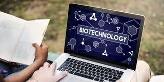 Ερευνητική έννοια πειράματος μορίων κυττάρων DNA βιοτεχνολογίας Στοκ Εικόνα