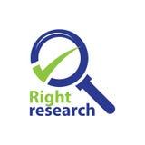 Ερευνητικό λογότυπο Στοκ εικόνες με δικαίωμα ελεύθερης χρήσης