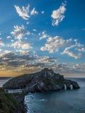 Ερημητήριο του San Juan de Gaztelugatxe, Euskadi Στοκ Εικόνα