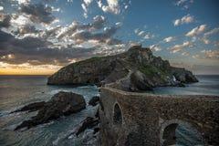 Ερημητήριο του San Juan de Gaztelugatxe, Euskadi Στοκ εικόνες με δικαίωμα ελεύθερης χρήσης
