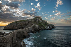 Ερημητήριο του San Juan de Gaztelugatxe, Euskadi Στοκ φωτογραφία με δικαίωμα ελεύθερης χρήσης