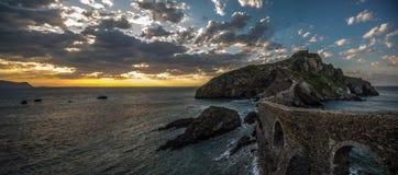 Ερημητήριο του San Juan de Gaztelugatxe, Euskadi Στοκ Εικόνες