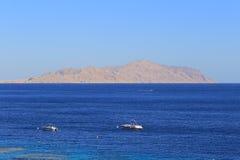 Ερυθρά Θάλασσα και νησί Tiran Στοκ εικόνες με δικαίωμα ελεύθερης χρήσης
