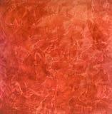 Ερυθρό, κόκκινο υπόβαθρο των κηλίδων - ενετικό ασβεστοκονίαμα, διακοσμητικό επίστρωμα για τους τοίχους στοκ φωτογραφία με δικαίωμα ελεύθερης χρήσης