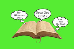 Ερωτήσεις για τη Βίβλο Στοκ Εικόνα