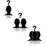 Ερωτήσεις σχέσης διανυσματική απεικόνιση