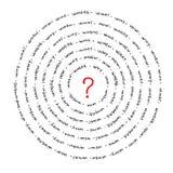 ερωτήσεις διανυσματική απεικόνιση