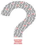 Ερωτήσεις Στοκ Εικόνες