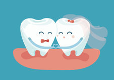 Ερωτευμένα δόντια απεικόνιση αποθεμάτων
