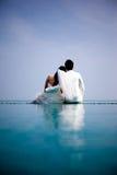 Ερωτευμένη νύφη και νεόνυμφος Στοκ Φωτογραφίες