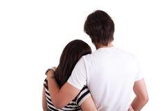 ερωτικό αγκάλιασμα ζευ&ga Στοκ φωτογραφία με δικαίωμα ελεύθερης χρήσης