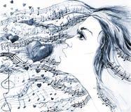 ερωτικό τραγούδι διανυσματική απεικόνιση