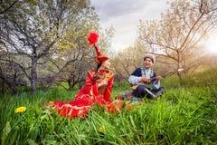 Ερωτικό τραγούδι του Καζάκου Στοκ εικόνα με δικαίωμα ελεύθερης χρήσης