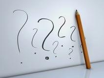 ερώτηση μολυβιών σημαδιών ελεύθερη απεικόνιση δικαιώματος