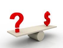 ερώτηση σημαδιών δολαρίων & Στοκ Εικόνες