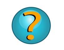 ερώτηση σημαδιών κουμπιών Στοκ Εικόνα