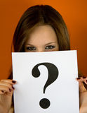 ερώτηση σημαδιών Στοκ Εικόνα