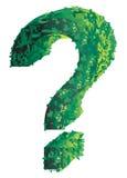 ερώτηση σημαδιών topiary Στοκ Φωτογραφίες