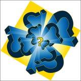 ερώτηση σημαδιών απεικόνι&sigma Στοκ Εικόνες