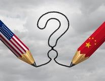 Ερώτηση της Κίνας ΗΠΑ στοκ εικόνες