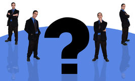 ερώτηση 4 επιχειρηματιών διανυσματική απεικόνιση
