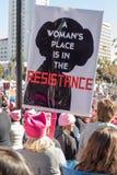2$ες ετήσιες γυναίκες ` s Μάρτιος - αντίσταση Στοκ Φωτογραφία