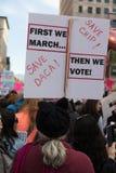 2$ες ετήσιες γυναίκες ` s Μάρτιος - εκτός από το Μάρτιο του 2018 γυναικών ` s daca Στοκ εικόνα με δικαίωμα ελεύθερης χρήσης