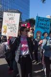 2$ες ετήσιες γυναίκες ` s Μάρτιος - κορίτσια που ονειρεύονται Στοκ Φωτογραφίες