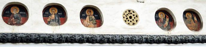 17ες νωπογραφίες αιώνα, άγνωστος καλλιτέχνης, εκκλησία του Βουκουρεστι'ου Στοκ φωτογραφία με δικαίωμα ελεύθερης χρήσης