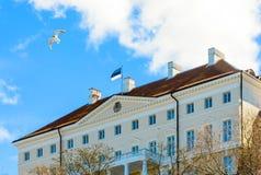 Εσθονική κυβέρνηση που στηρίζεται στο λόφο Toompea στην παλαιά πόλη του Ταλίν, Εσθονία Στοκ Φωτογραφίες