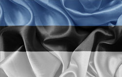 εσθονική σημαία Στοκ φωτογραφία με δικαίωμα ελεύθερης χρήσης