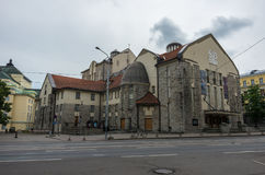 Εσθονικό θέατρο δράματος Το σκανδιναβικό κτήριο Nouveau τέχνης είναι το ο στοκ φωτογραφία με δικαίωμα ελεύθερης χρήσης